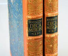 Altes Buch Giovanni Boccaccio Decameron 2 Bände 1924 Berlin