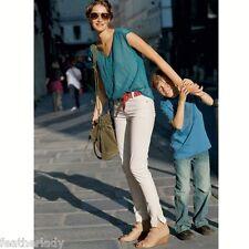 la redoute STRETCH ivory OFF WHITE jodphur slim fit trousers UK 8 EU 36 29L NEW