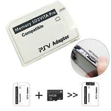 UP To 256GB SD2VITA PSVSD Micro SD Card Adapter For PS Vita PSV1000 2000 3.60 V5