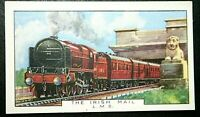 The Irish Mail  LMS Railway  Britannia Bridge  Menai   1930's Vintage Card