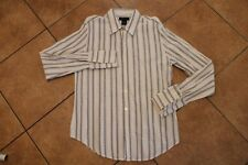 Calvin Klein Jeans Premium Striped Men's Casual Club Dress Shirt L LG Large Sexy