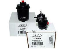 AEM Adjustable Fuel Pressure Regulator + High Volume Filter (25-304BK+25-200BK)
