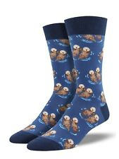 Socksmith Blue Otters Mens Man Boys Novelty Socks Otter Crhistmas Gift Xmas New