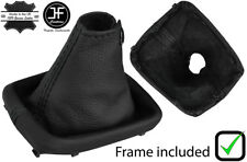 BLACK STITCH REAL LEATHER GEAR BOOT+PLASTIC FRAME FITS NISSAN S15 SILVIA 99-03