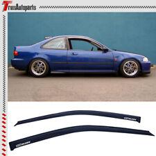 Fit 92-95 Honda Civic Coupe 2Dr Hatchback 3Dr Window Visor Slim Smoke Guard Set