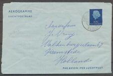 ROTT. Lloyd POSTAGENT a/b S.S. WATERMAN 1,26.III.61 'ERGENS IN DE INDISCHE Zj355