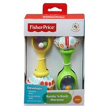 Fisher-Price Rattle N Rock Maracas Infant Baby Toy Set of 2 Rattles NEW