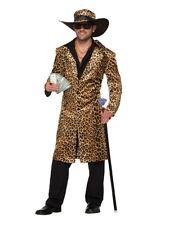 Funky Leopard Pimp Jacket and Hat Fancy Dress Party