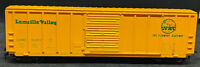 ROUNDHOUSE: LAMOILLE VALLEY LVRC 5371 Yellow BOXCAR.  HO VINTAGE