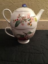 Lenox Orchard in Bloom  Two Cup Teapot with Lid & Cup Set EXCELLENT w tags