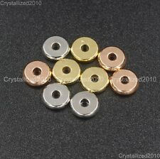 Solid Metal Round Rondelle Slice Bracelet Necklace Connector Charm Spacer Beads