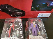 Batman Animated Series LOT Deluxe Batmobile w Batsignal Joker Harley Robin