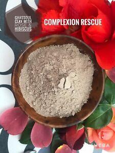 Pure Rhassoul Ghassoul Moroccan Lava Clay Powder with Rose Hibiscus Repair Vegan
