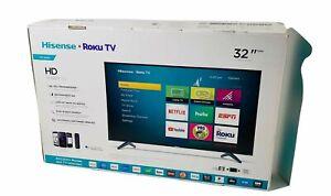 Hisense 32-Inch Class H4 Series LED Roku Smart TV, Black, 32in (32H4F) OPEN BOX