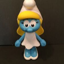 """2016 Burger King Smurf Girl Smurfette 5 1/2"""" Moving Arms EXCELLENT Fun Desk Toy"""