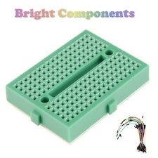 Solderless Prototype Breadboard (170 Points) + 65 Jumper Wires - Green