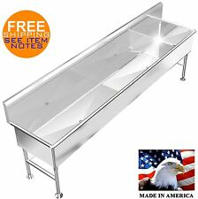 Industrial 120x 26x 14deep 5 Station Multiuser Wash Up Hand Sink Body Only