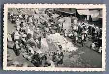 Viêt Nam, Scène au Marché  Vintage silver print. Vietnam  Tirage argentique d&