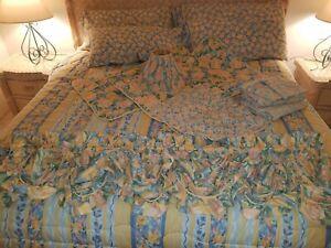 CROSCILL Fiesta Roses King Comforter Sheets Shams Lamp Bed Skirt & Pillow Lamp