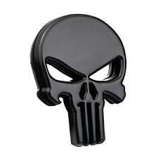 1*Motorcycle Auto SUV DIY Skull Punisher Black Metal Emblem Badge Decal Stickers
