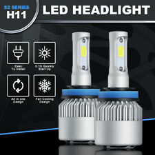 H8/H9/H11 36W 8000LM Car CSP COB LED Headlight Hi/Lo Bulbs Beam Fog Light 6000K