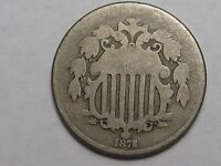 Better-Date 1882 US 5 Cent Shield Nickel.  #9