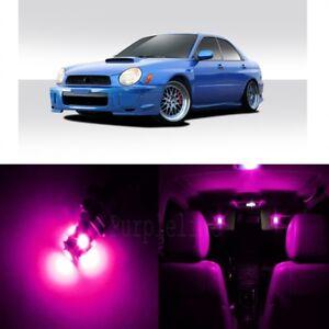 7 x Pink LED Interior Lights For 2002 - 2003 Subaru Impreza WRX STI + Pry TOOL