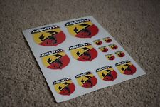 Fiat Abarth Scorpion Logo Badge Car Motorbike Racing Tuning Decals Stickers