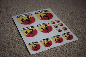 Fiat Abarth Scorpion Logo Badge Car Motorbike Racing Tuning Decals Stickers