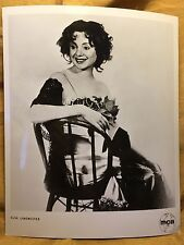 ELSA LANCHESTER Personally Owned Publicity Photo Saloon / Pub Dress & Chair