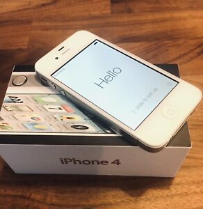 Apple iPhone 4 - 8GB - White A1349 (CDMA) Exc Condition READ- Factory Settings