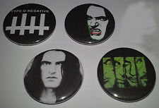 4 Type O Negative button badges 25mm Slow Deep Hard Bloody Kisses Peter Steele