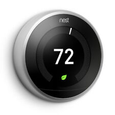 Nest 3rd Generation Learning Stainless Steel Programmable Thermostat 2 Pack
