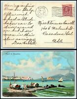 1913 ITALY Postcard - Roma to Pasadena, California USA C5