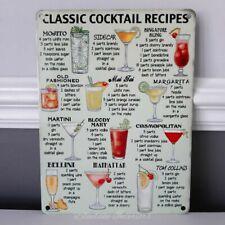 Classic Cocktail Ricette metallo segno Mojita Cosmopolitan BLOODY MARY Martini