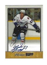 Michael Rupp,1998 Bowman CHL Autograph Blue Card, Silver Stamp, # A-3, Erie