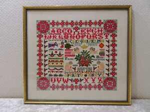 Stoff Bild - Frohe Weihnachten Engel - Holz Rahmen - 40,5 cm x 37 cm