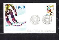 enveloppe 1er jour  nf   sport au fil du temps  ski  jean claude Killy  ;  2000