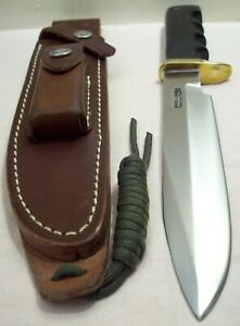 1990's~RANDALL MADE~7~UNUSED~CUSTOM DIVER/FIGHTER MICARTA HUNTING KNIFE w/SHEATH