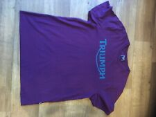 triumph motorcycle tee shirt size latge