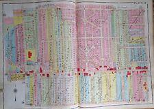 ORIG 1930 FIVE POINTS STEWART CIRCLE SCOTT CIRCLE TOLEDO OHIO ATLAS MAP