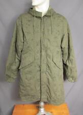 Vintage US Army Night Camouflage Fishtail Parka Desert Jacket w/ Hood Military S