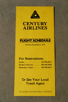 Century Airlines - Flight Schedule - Nov 5, 1979