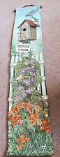 """Collectible Beautiful Tapestry Wall Hanging """"Rent for a Song""""  39 x 8"""" Signed"""