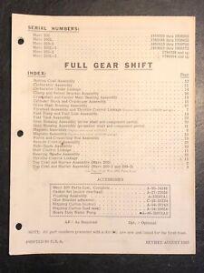 1965 Merc Mercury 200,L,200-1,L-1, 200-2, L-2 Outboard Parts Manual List Catalog