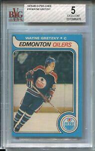 1979 OPC Hockey #18 Wayne Gretzky Rookie Card RC Graded BVG EX 5 O-Pee-Chee '79