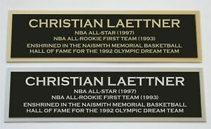 Christian Laettner nameplate for signed autographed basketball photo jersey