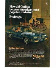 1983 Oldsmobile Cutlass Supreme Blue 2-door T-Top Vtg Print Ad