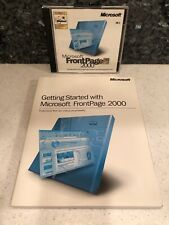 Microsoft FrontPage 2000 Windows 95 98 2000 Professional NT with Product Key