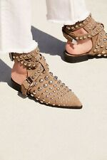 Free People Jeffrey Campbell Milano Stud Boot Snake Slide Flats Size 5 New $228
